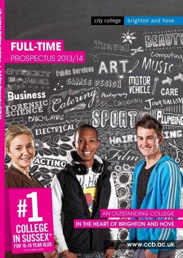 Full-time Course Prospectus 2013-14 - City College