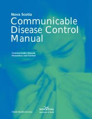 Communicable Disease Control Manual - Government of Nova Scotia