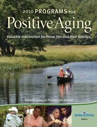 Positive Aging Guide - Government of Nova Scotia