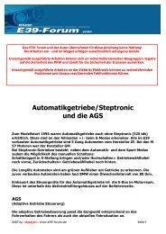 Automatikgetriebe/Steptronic und die AGS