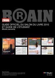 GUIDE OFFICIEL DU SALON DU LIVRE 2010 Et GUIDE DE L ...