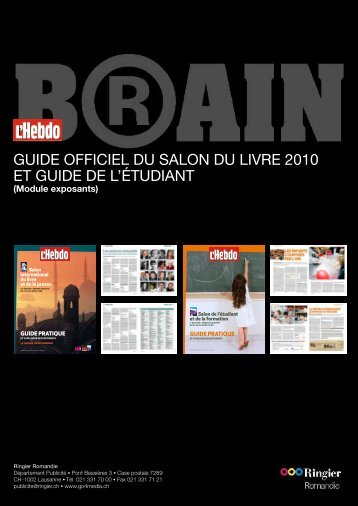 GUIDE OFFICIEL DU SALON DU LIVRE 2010 Et GUIDE DE L ...
