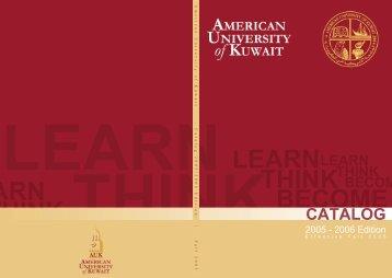 Catalog 2005-2006 - AUK