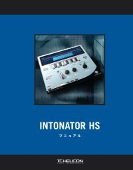 Intonator HS Manual - TC Electronic