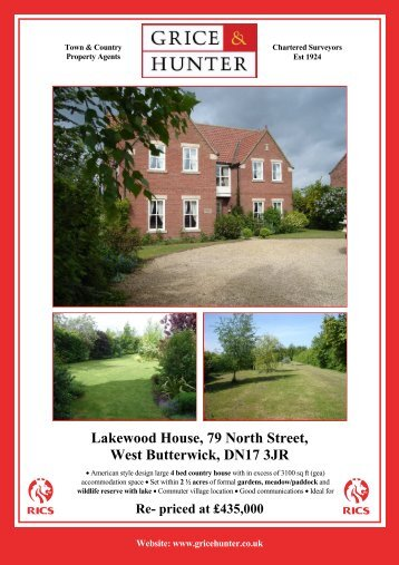 Lakewood House, 79 North Street, West Butterwick - Grice & Hunter