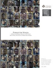 FORGOTTEN VOICES - International Center for Transitional Justice