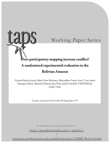 Does participatory mapping increase conflict? - Heller School for ...