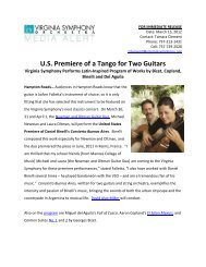 U.S. Premiere of a Tango for Two Guitars - Virginia Symphony ...