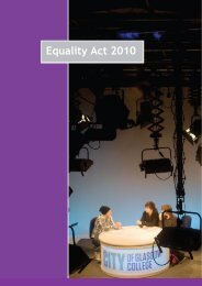Equality Act 2010 - City of Glasgow College