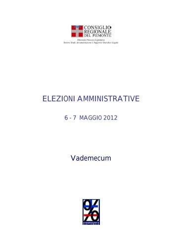 Vademecum elezioni 2012 - Consiglio regionale del Piemonte