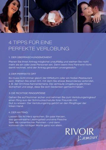4 TIPPS FÜR EINE PERFEKTE VERLOBUNG - Solitaire Lechler