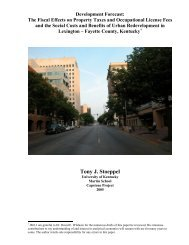 The Fiscal Effects on Property Taxes and Occupational License ...