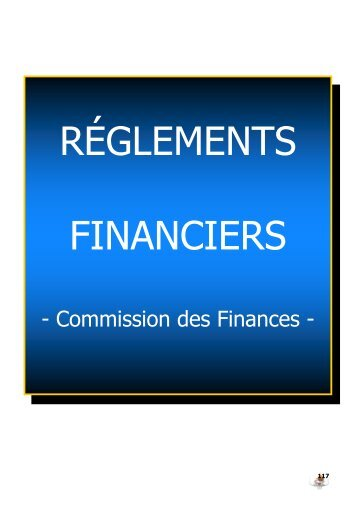 Règlements financiers