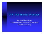 DUC 2006 Pyramid Evaluation