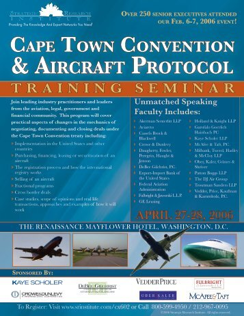 & AIRCRAFT PROTOCOL - ALM Events