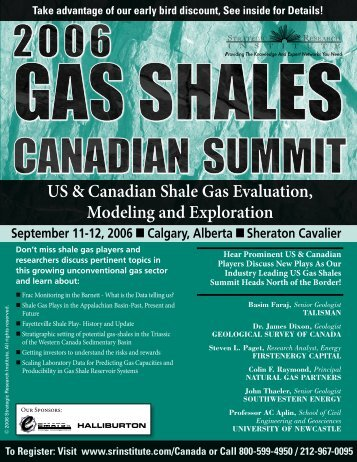 US & Canadian Shale gas evaluation, modeling and ... - ALM Events