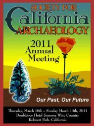 5:00 PM - Society for California Archaeology