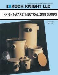 KNIGHT-WARE NEUTRALIZING SUMPS - Reed Construction Data