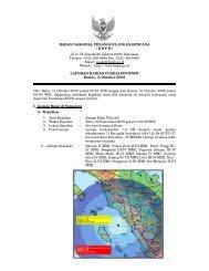 Laporan Harian 15 Oktober 2009 - BNPB