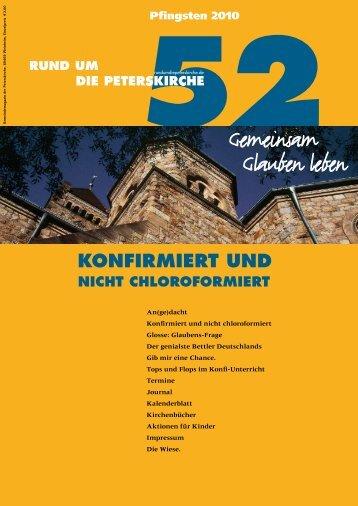 Ausgabe Nr. 52 - Gemeinde an der Peterskirche