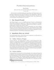 ¨Uberblick Dissertationsthema - Paehler.org