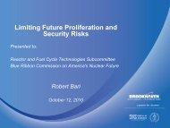 Limiting Future Proliferation and Security Risks - Blue Ribbon ...