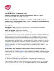 Download workshop descriptions and required materials