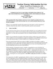 Nuclear Energy Information Service - Blue Ribbon Commission on ...