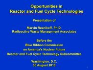 Opportunities in Reactor and Fuel Cycle Technologies