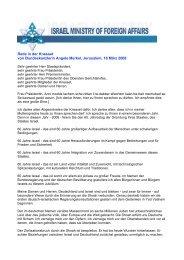 Rede in der Knesset von Bundeskanzlerin Angele Merkel ...