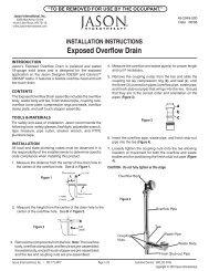 INSTallaTION INSTRUCTIONS - Jason International