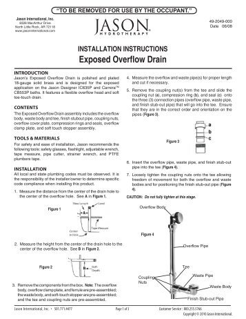 INSTallaTION INSTRUCTIONS - Jason International