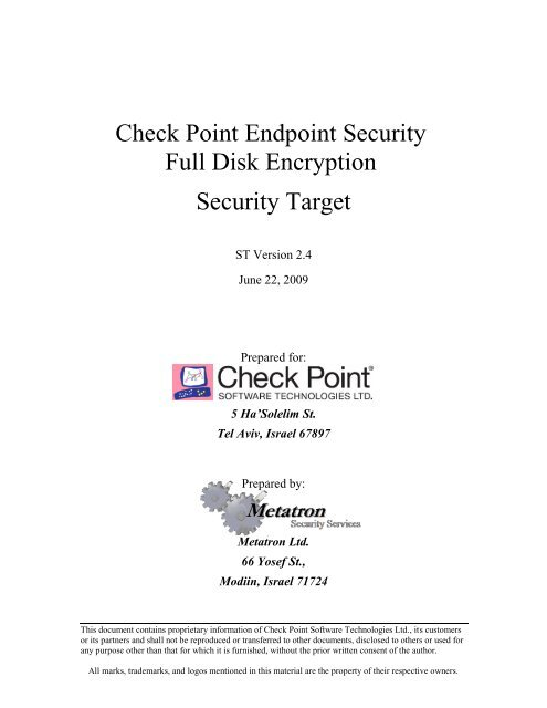 Check Point Endpoint Security Full Disk Encryption - Common