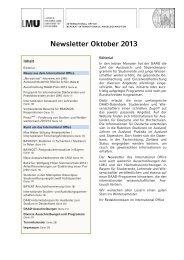 Newsletter Oktober 2013 - LMU München