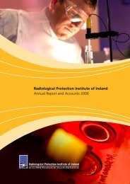 Annual Report and Accounts 2006 - Radiological Protection Institute ...