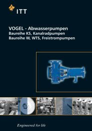 VOGEL - Kanalradpumpen, Baureihe KS