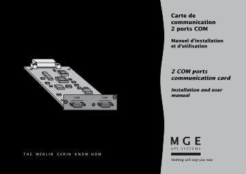 Carte de communication 2 ports COM 2 COM ports ... - Onduleurs