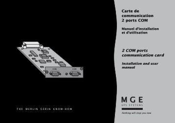 Carte de communication 2 ports COM 2 COM ports ... - Onduleurs