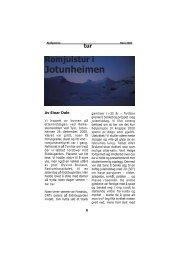 Fjellposten, høst 2001 (PDF-dokument) - Professor Øyvind S. Bruland