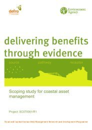 Scoping study for coastal asset management - Environment Agency