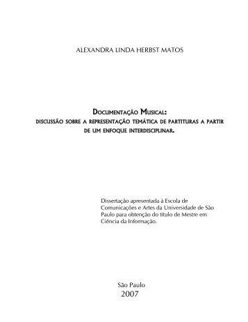 Documentação musical: discussão sobre a ... - ECA-USP