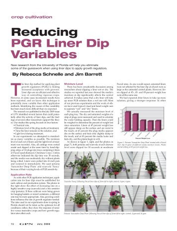 Reducing PGR Liner Dip Variables - Greenhouse Product News