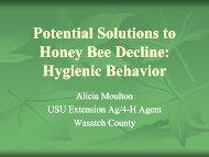 Potential Solutions to Honey Bee Decline: H i i B h i ... - Utah Pests