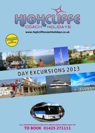 Day Excursion Brochure 2013 -v2 - Highcliffe Coach Holidays