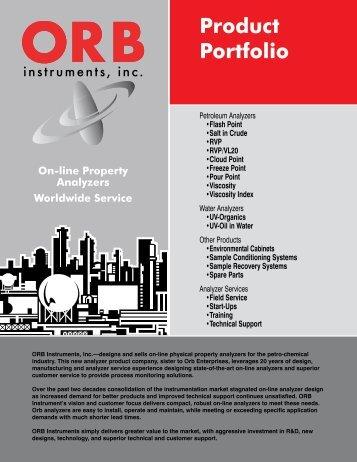 Product Portfolio - OrbInstruments.com