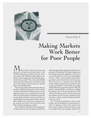 Chapter 4: Making Markets Work Better for Poor People