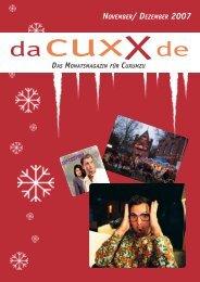 Die Highlights im November und Dezember ... - Cuxx.de