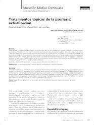 Tratamientos tópicos de la psoriasis - Antonio Rondón Lugo