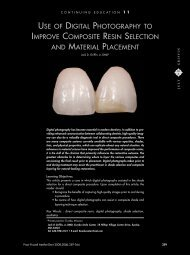 use of digital photography to improve composite resin selection and ...