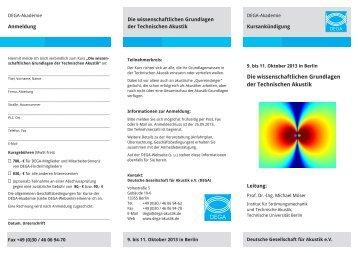 Faltblatt (PDF, 170 kB) - Deutsche Gesellschaft für Akustik eV